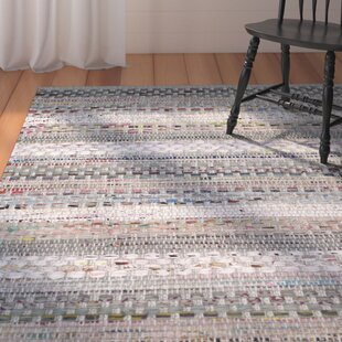 Vesey Hand-Knotted Cotton Gray/White/Brown Area Rug by August Grove