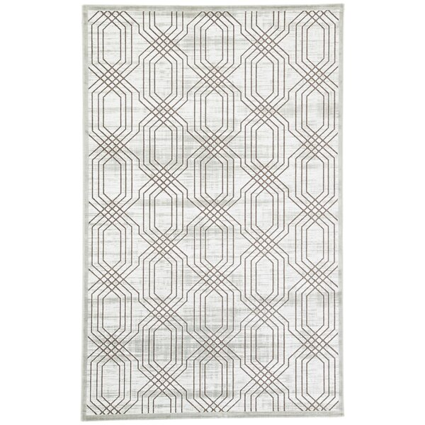 Marsielle Power-Loomed White Area Rug by Wrought Studio