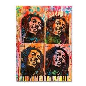 'Bob' Graphic Art Print on Wrapped Canvas by Trademark Fine Art