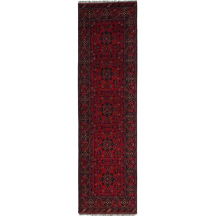 Best One-of-a-Kind Auxvasse Hand-Knotted Runner 2'8 x 9'10 Wool Red Area Rug By Isabelline