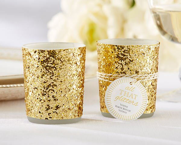 Glitter Metal Tealight Holder (Set of 12) by Mercer41