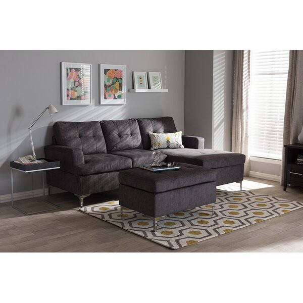 Huntingburg Right Hand Facing Sectional with Ottoman by Ebern Designs Ebern Designs