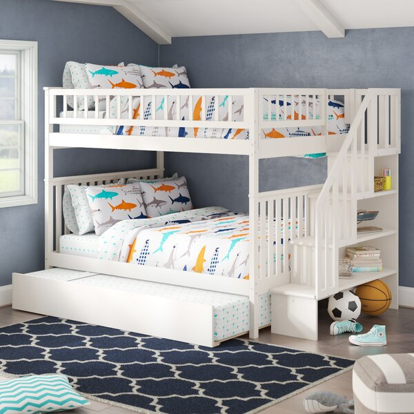 Shyann Full Over Full Bunk Bed with Trundle by Viv + Rae