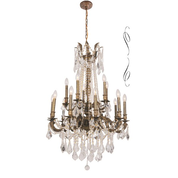 Angola 15 - Light Candle Style Classic / Traditional Chandelier By B&S Lighting