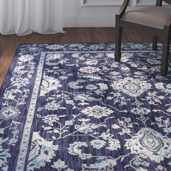 Bryan Rectangle Blue Area Rug by Darby Home Co