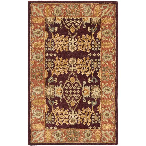 Bergama Red/Rust Area Rug by Safavieh