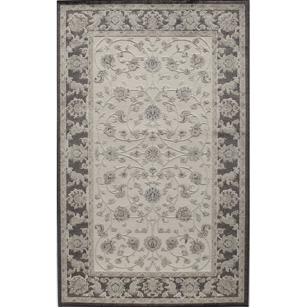 Sheldon Ivory/Black Area Rug by Threadbind