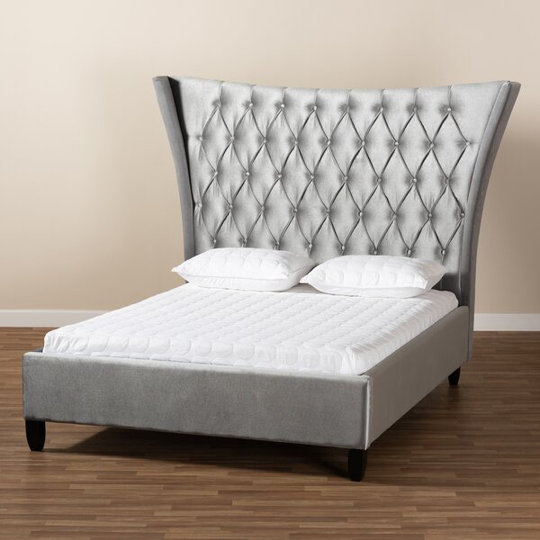 Viola Glam And Luxe Upholstered Platform Bed By Wholesale Interiors