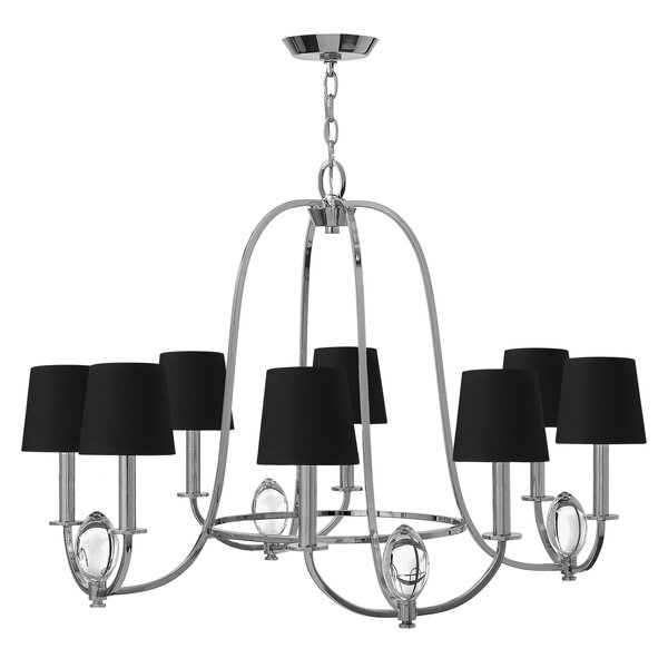 Marielle 8 - Light Shaded Classic / Traditional Chandelier By Hinkley