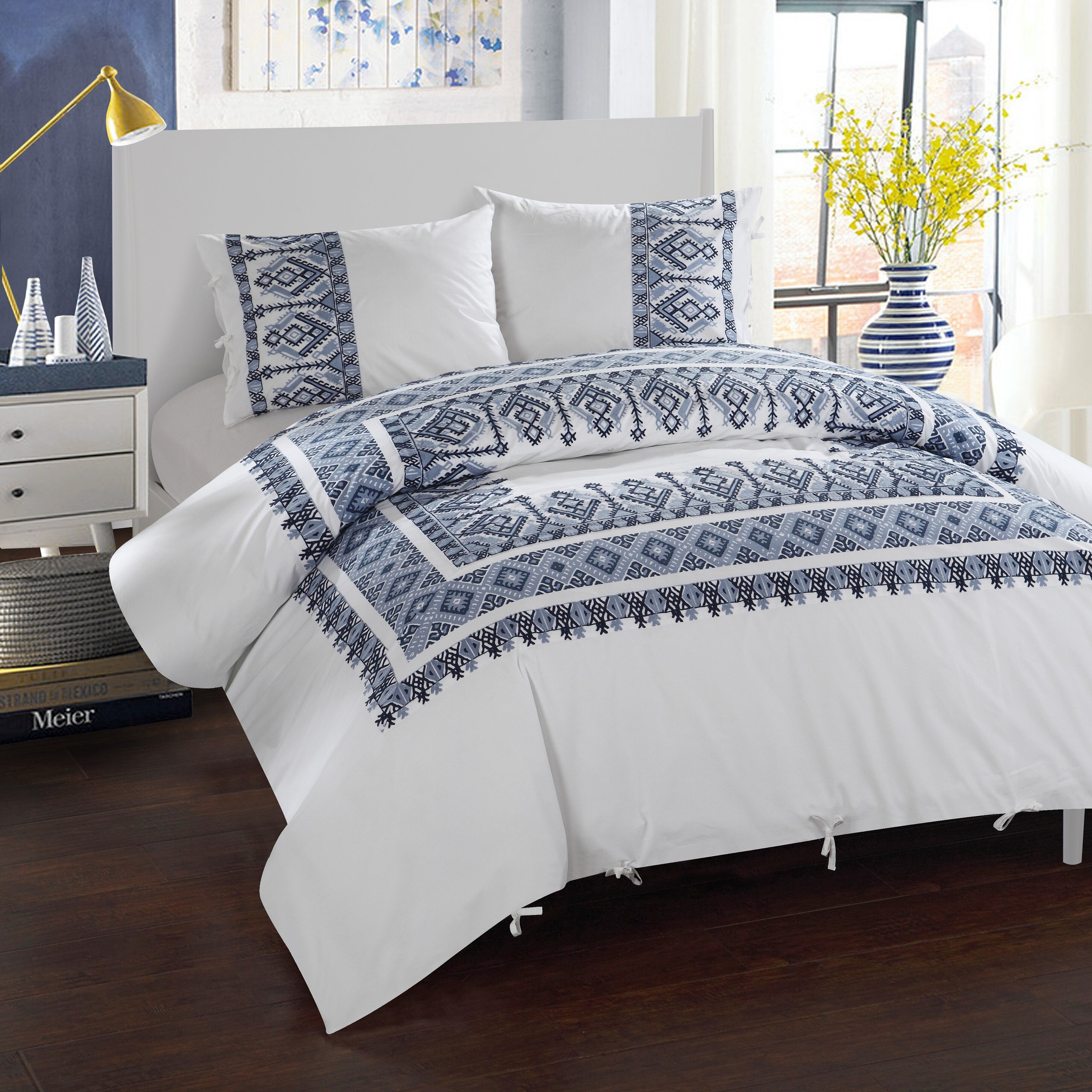 lifestyle holli tribal new print stripe french zollinger products linen comforter