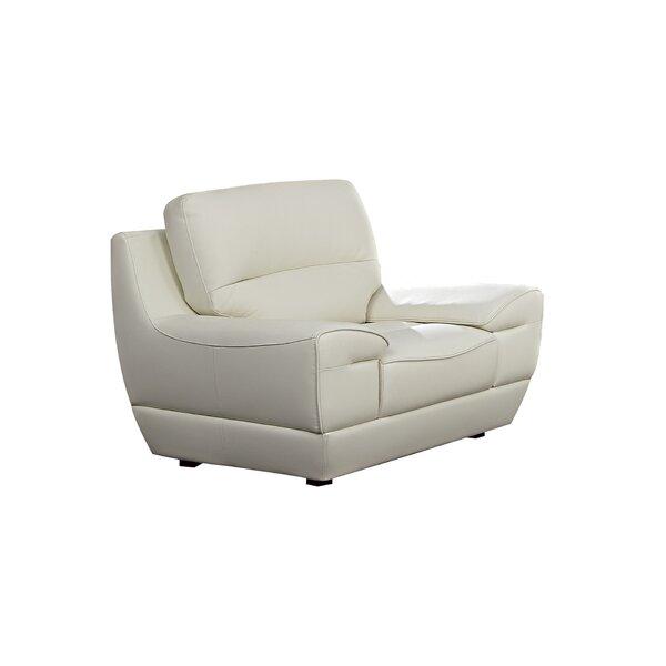 Eager Leather Armchair by Orren Ellis