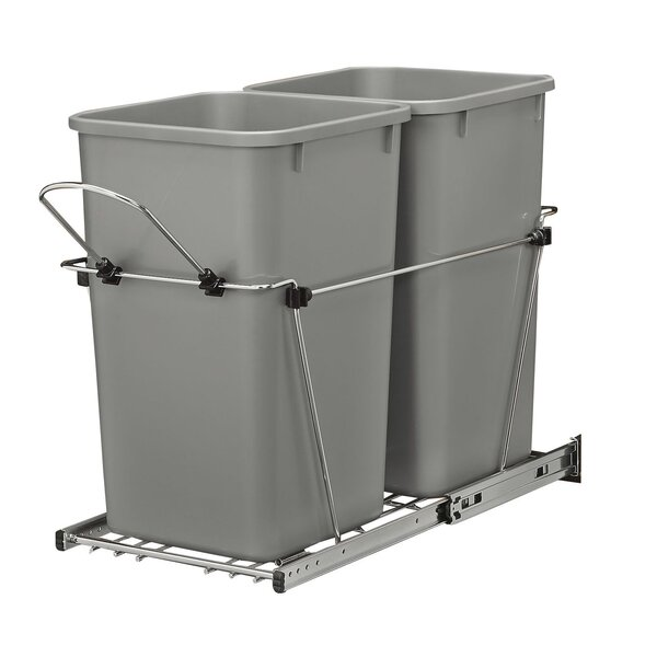 6.75 Gallon Open Pull Out Trash Cans by Rev-A-Shelf