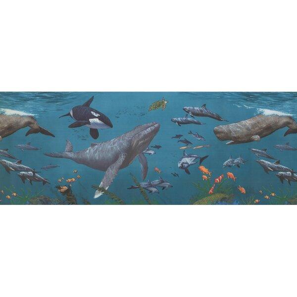 Ferriera Underwater Nature Aegean Wallpaper Border by Breakwater Bay