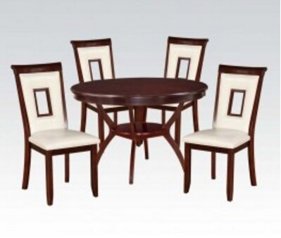 Syndra 5 Piece Dining Set by A&J Homes Studio