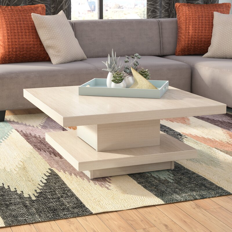 brayden studio laroche square coffee table & reviews | wayfair