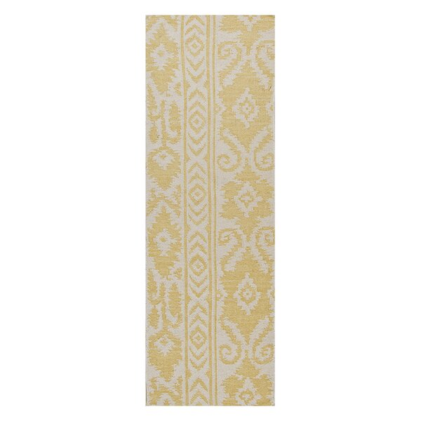 Terrence Yellow Tribal Area Rug by Bungalow Rose