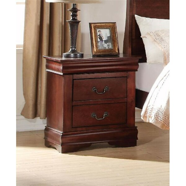 Pancoast 2 - Drawer Nightstand in Cherry by Canora Grey