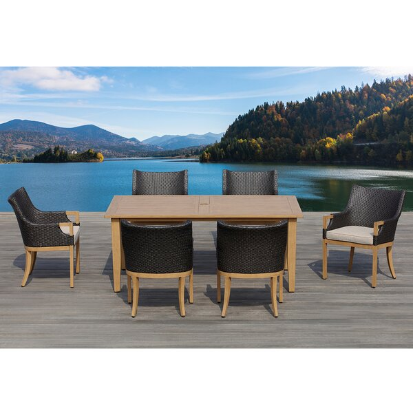 Marbella 7 Piece Dining Set with Cushions by Ove Decors