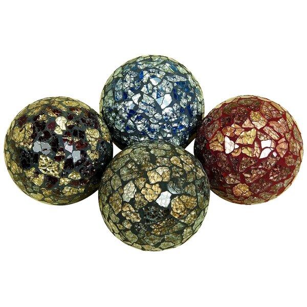 Kerner Decorative Mosaic Ball Vase Filler Set (Set of 4) by Charlton Home