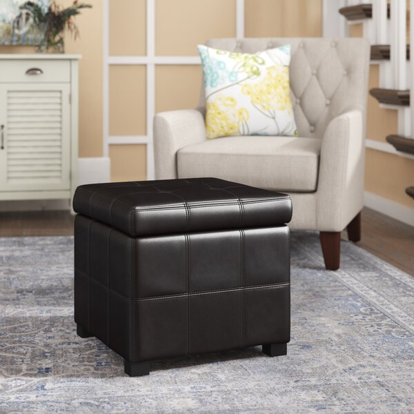 Leather Storage Ottoman by Three Posts