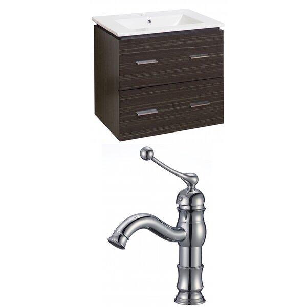 Kyra 24 Multi-Layer Stain Single Bathroom Vanity Set