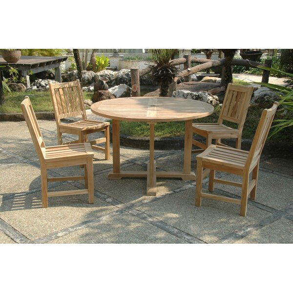 Kratzer 5 Piece Teak Dining Set by Bayou Breeze