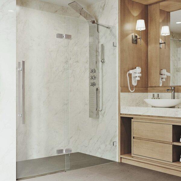 Rochelle Adjustable 60.75 x 74 Hinged Frameless Shower Door by VIGO
