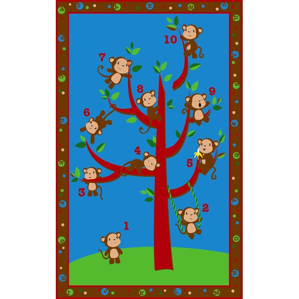 Ten Little Monkeys Area Rug by Kid Carpet