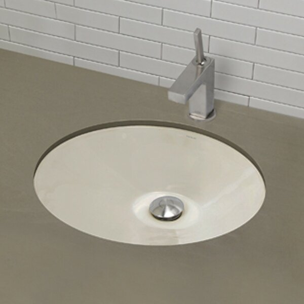 Mayah Classically Redefined Ceramic Oval Undermount Bathroom Sink with Overflow by DECOLAV