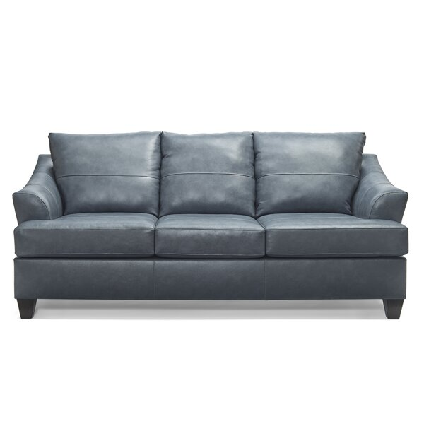 New Collection Stivers Leather Sofa by Ivy Bronx by Ivy Bronx