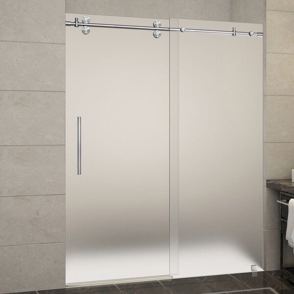 Langham 60 x 75 Single Sliding Frameless Shower Door by Aston