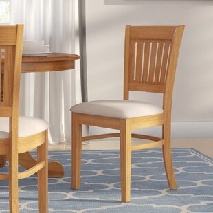 Corcoran Microfiber Upholstered Dining Chair (Set of 2)