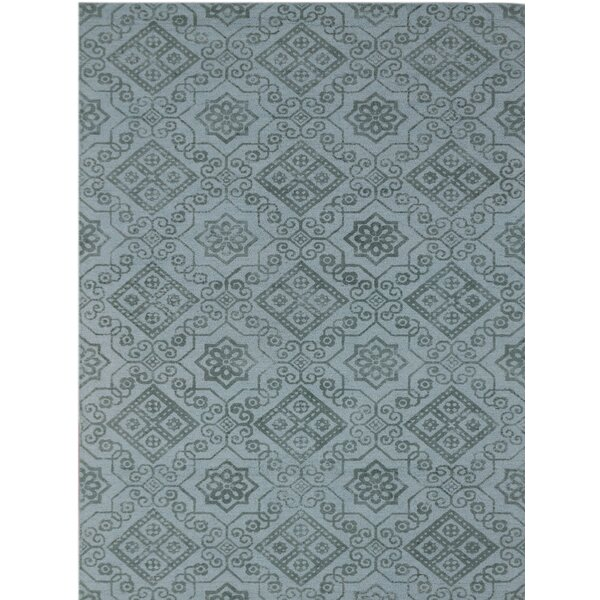 Pembroke Hand-Tufted Blue Area Rug by Charlton Home