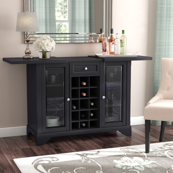 Abbate Sliding Top Bar Cabinet by Darby Home Co