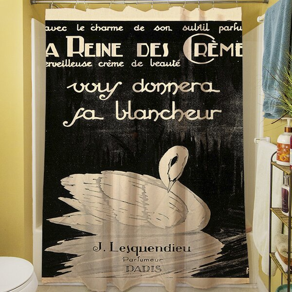 Swan Cremes Shower Curtain by Manual Woodworkers & Weavers
