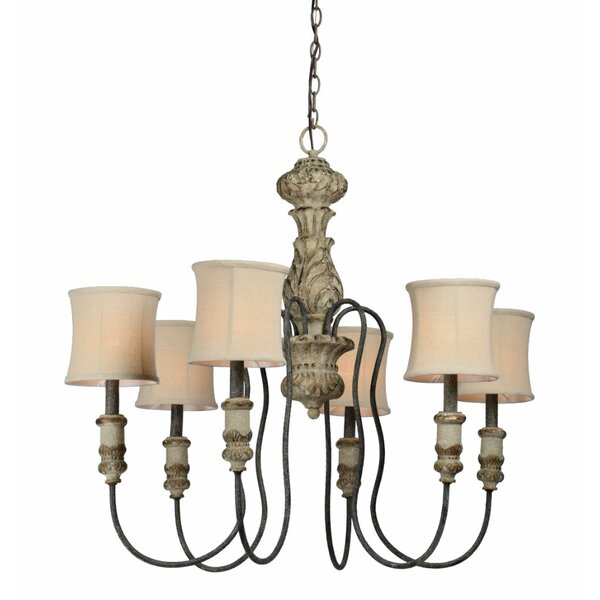 Rivers 6-Light Shaded Chandelier by Bay Isle Home
