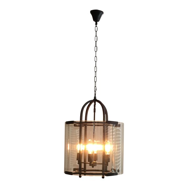 Gouveia 5 - Light Lantern Square Chandelier By Ivy Bronx