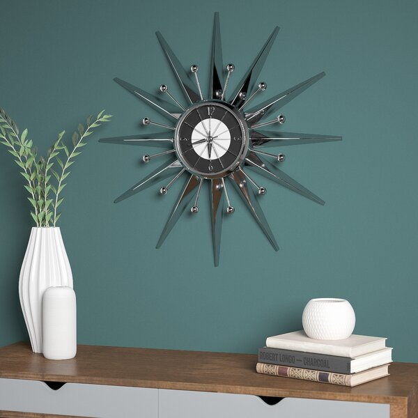 Oversized 23.5 Telechron Starburst Wall Clock by Corrigan Studio