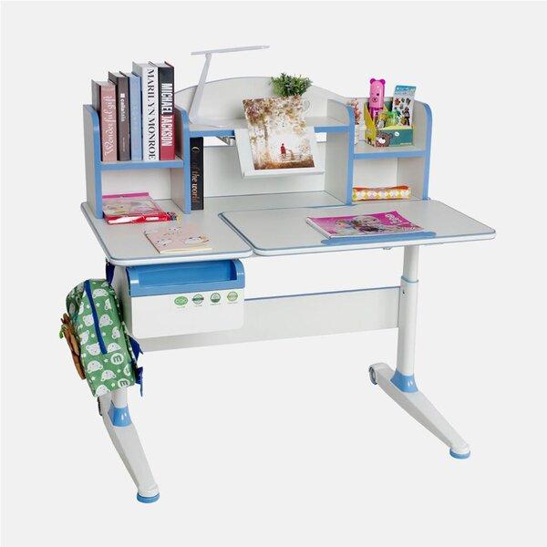 Araceli Adjustable Tilted Desktop 43.3 Writing Desk with Book Shelf Drawer by Symple Stuff