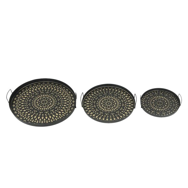 3 Piece Nested Circular Tray Set by Sagebrook Home