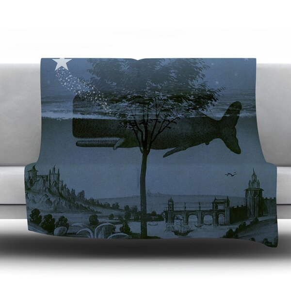 Whale Watch Fleece Throw Blanket by East Urban Home