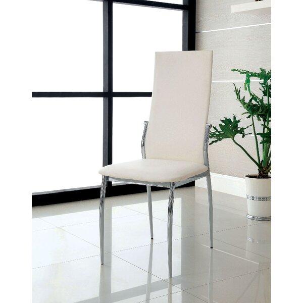 Pagur Upholstered Side Chair in White (Set of 2) by Orren Ellis Orren Ellis
