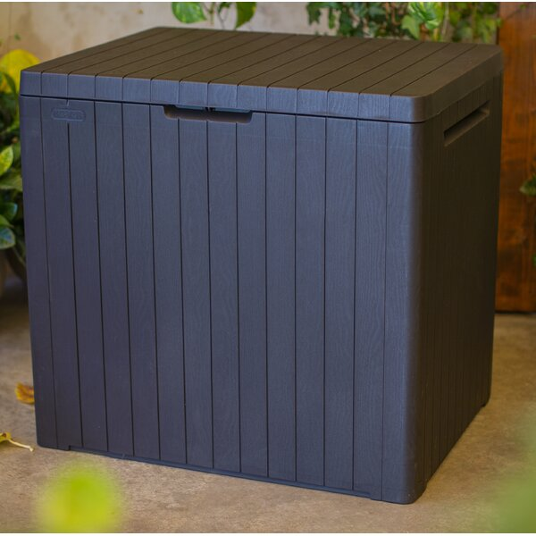 City 30 Gallon Plastic Deck Box By Keter