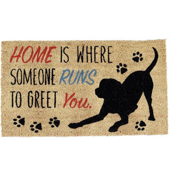 Ephrata Home Dog 30 in. x 18 in. Non-Slip Outdoor Door Mat