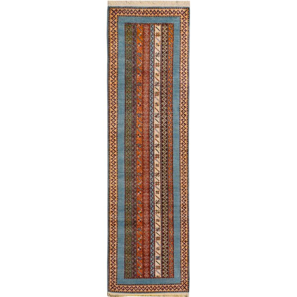 One-of-a-Kind Abbie Hand-Knotted Wool Blue/Green Area Rug by Isabelline