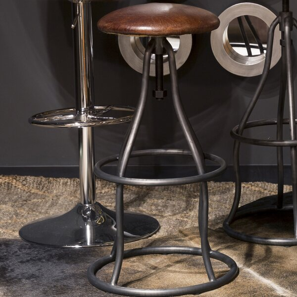 Calisto Adjustable Height Swivel Bar Stool by 17 Stories 17 Stories