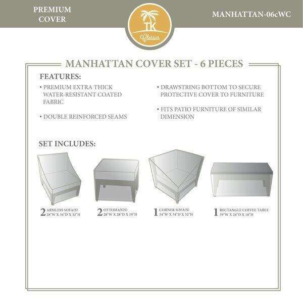 Manhattan Winter 6 Piece Cover Set by TK Classics