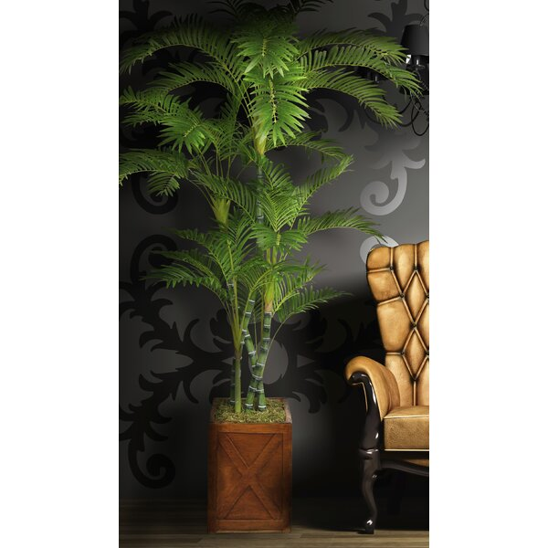 Tall Floor Palm Tree in Planter by Bayou Breeze