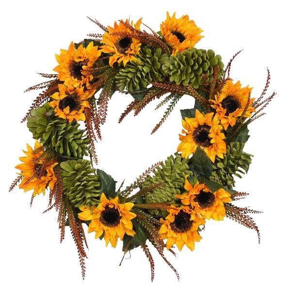 Autumn 26 Sunflower Wreath by August Grove