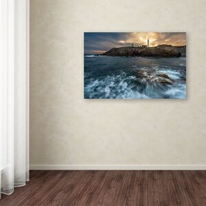 The Lighthouse by Mathieu Rivrin Photographic Print on Wrapped Canvas by Trademark Fine Art